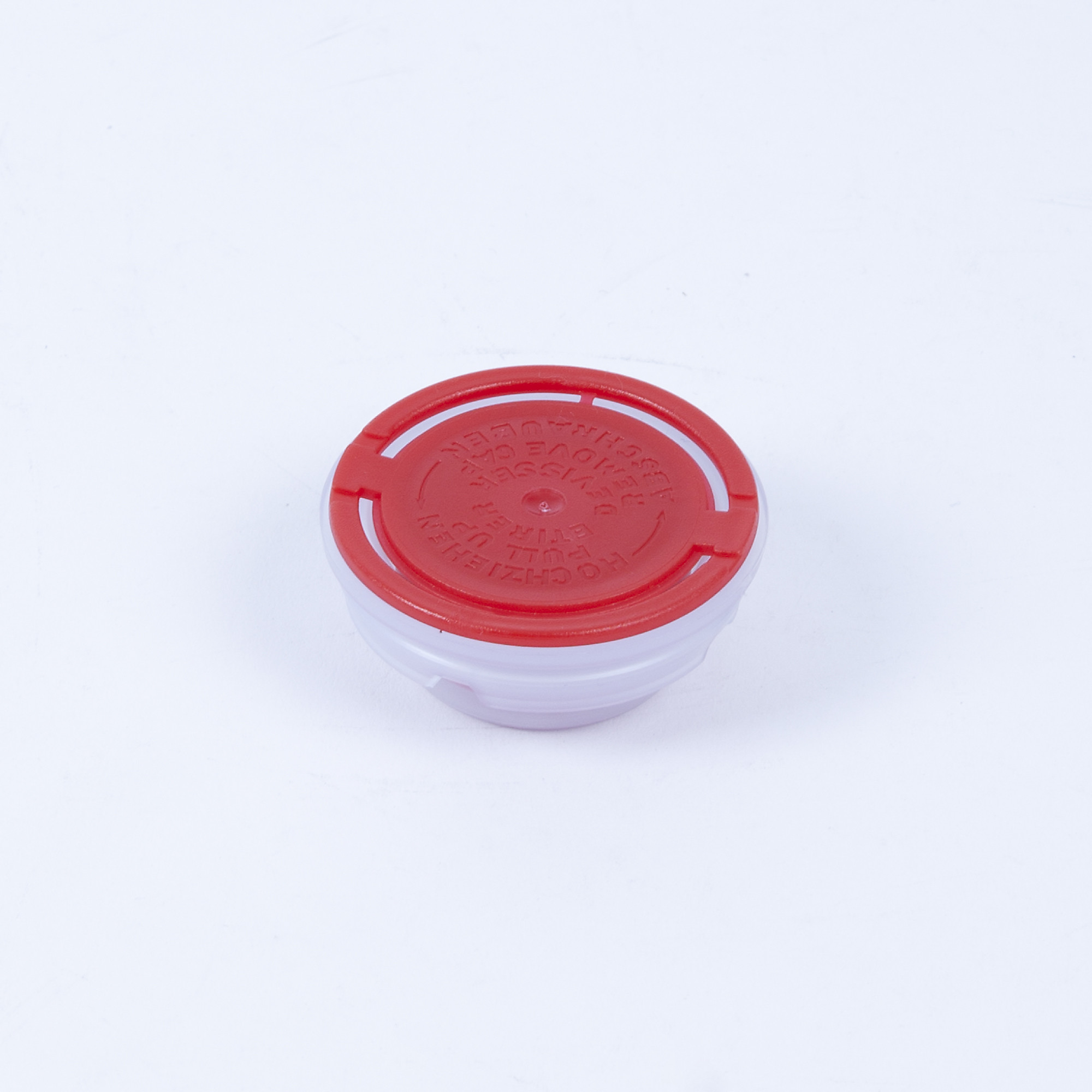Kunststoff-Faltenbalgverschluss rot 32mm, bestrahlt