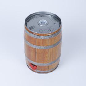 Bierfass 5 Liter, Holzdekor