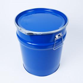 Hobbock 30 Liter, UN, innen gold lackiert, außen blau