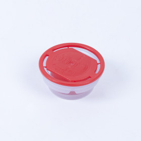 Kunststoff-Faltenbalgverschluss rot 42mm, bestrahlt, kindersicher