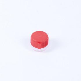 Kunststoff-Schraubkappenverschluss rot 24mm, kindersicher