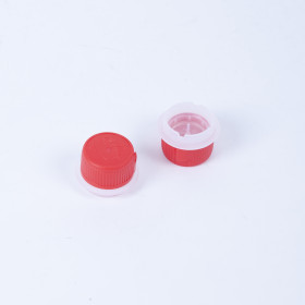 Schraubverschluss rot, für DIN-Lochung 32mm, kindersicher